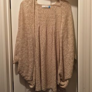 anthropologie brand sparrow cream cocoon cardigan